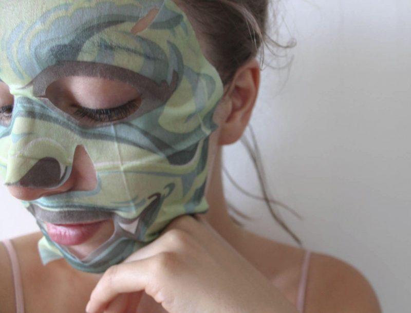Moi avec le masque MiiN Korean Cosmetics