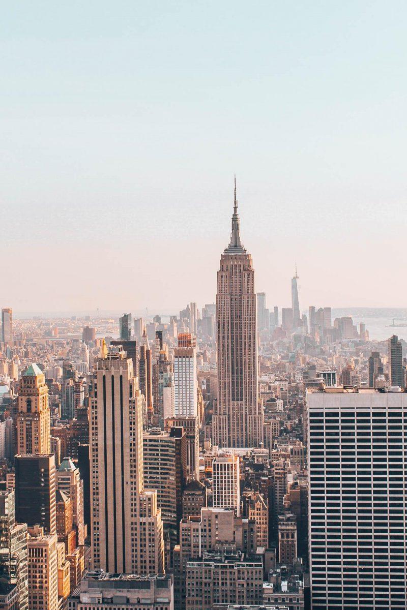 Empire State Building depuis l'observatoire du Rockfeller Center