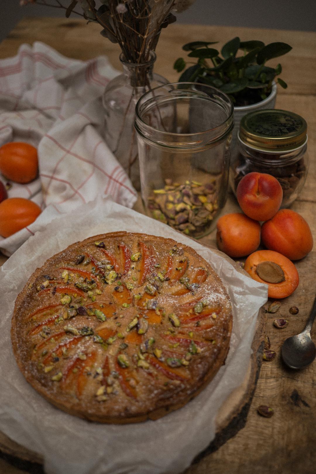 recette tarte abricot pistache