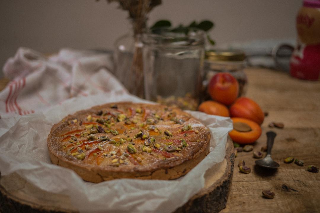 tarte abricot-pistache
